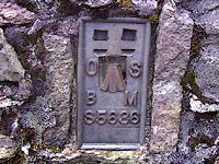 flush bracket benchmark on trig point, Kentmere Pike